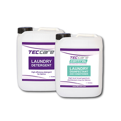 TECcare Control Available in two laundry fluid offerings
