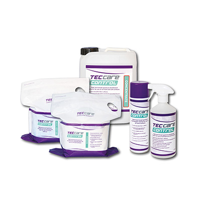 TECcare control Available in wipes, sprays and fluid