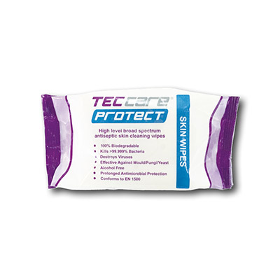 TECcare Protect Available in 40-wipe flow pack